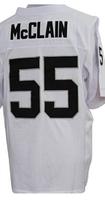 Cheap Free Shipping American Oakland Football #55 Rolando Mcclain Jersey White, Black Stitched Logo Elite
