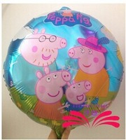 2014 New arrive 30pcs/lots wholesales Peppa Pig foil balloon Birthday party decoration cartoon balloons Hot sale