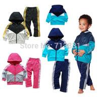 DJ Retail 2014 New Hot Sale 2pcs/set Kids Baby Suit Boys Girls Long Sleeve Shirt + Pant Sport Clothes Hoodies Children Clothing