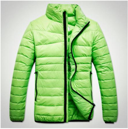 Free shipping 2014 Men's urban fashion no cap collar down coat jacket Size:M-XXXL(China (Mainland))