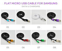 3.3 Feet Flat Micro USB Cable with Metal Plug for Samsung LG HTC Blackberry Nokia