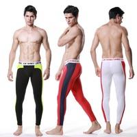 U108 Male long johns warm pants  underwear pyjama Men Candy  split color Soft modal cotton Thermal