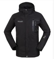 2014 Men's Outdoor Double Layer 2in1 winter Windproof Waterproof Climbing Skiing Jackets and fleece outdoor down jacket
