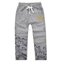 #5673  wholesale children clothing kids garment boys/girls terry drawstring causal sports pensil pants capris