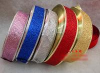 Free shipping 200 * 5mm / 5 colors satin organza ribbon Christmas ribbon gift package DIY holiday ribbon