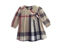 Autumn 2014 new children's clothing girls dress children long-sleeved plaid  spring and big virgin princess dress Europe