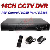New Arrivals 16CH H.264 Network CCTV DVR P2P Operation 1080P HDMI Port RS485 video recroding
