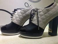Free Shipping 2014  Original Quality Sheepskin Leather Fashion Women high heel boots women shoes