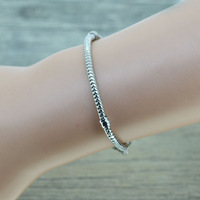 CPH100 Promotion European 925 sterling Silver Bracelet&Bangle Snake Chain with Barrel Clasp fit for Pandora  Chamilia Bead Charm