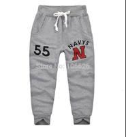 #5720 wholesale letter pattern children clothing kids garment boys/girls terry drawstring causal sports pants capris