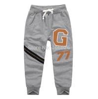 #5621wholesale children clothing kids garment boys/girls terry drawstring causal sports pencil pants capris