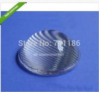 10pcs 20-100w 51mm Striped Convex Glass Led Lens for Led Spotlight Car Light Flashlight