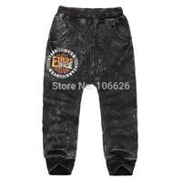 #7806 kids garment children clothing boys/girls knitted jeans denim causal sports pencil pants capris