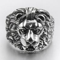 Wham! The lion male money titanium steel ring