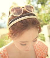 Free Shipping 2014 Wholesale Boutique CC Brand Logo Girls Hairband  New Fashion Headband Hair Accessory Jewelry