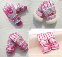 Fashion childen Ski Thermal Winter Gloves Windproof Waterproof Outdoor Warm Mittens For Girls