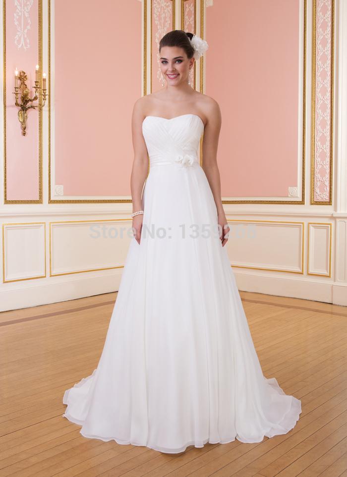 2014 ArrivalFree Shipping 2014 Jordan Wedding Dresses Pleat Sashes Bridal Gown Vintage Wedding Dresses Vestido Noiva Chiffon and(China (Mainland))