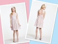 Customized Knee length Shirred A-line Keyhole Back Sleeveless Neckline Blush/Bronze Lace Flower Girl Dresses