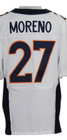 Cheap Free Shipping American Denver Football #27 Knowshon Moreno Jersey White, Blue, Orange Stitched Logo Elite