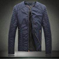HOT 2014 New Arrival Jaqueta Masculina Winter Mans Jackets and coats Super Thin Plus Size O-Neck Casual Men Jacket And Coat
