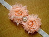 50pcs/lot Baby Girl Pearl Shabby Flower Chic Headband Wholesale