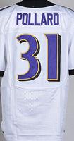 Cheap Free Shipping American Baltimore Football #31 Bernard Pollard Jersey White, Black, Purple Stitched Logo Elite