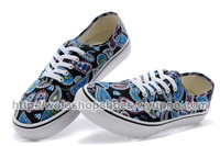 Floral restoring ancient ways canvas shoes, Hot 2014 new fashion unisex low men women sneakers and canvas shoes 08262242#