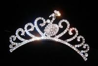 2014 New Fashion Wedding Bridal Crystal Rhinestone Crown Headband Jewelry Tiara Hair Comb Clip G0025