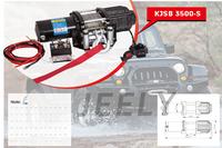 Free Shipping Remote Control 3500LB Car Winch, Electric winch 12V,4X4/UTV/ATV WINCH