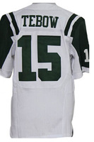 Cheap Free Shipping American New York Football #15 Tim Tebow Jersey White, Green Stitched Logo Elite