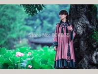 Free shipping 2014 Autumn Winter New Arrival Long sleeve Embroidery Dress Original Design Women Dress