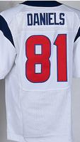Cheap Free Shipping American Houston Football #81 Owen Daniels Jersey White, Blue, Red Stitched Logo Elite
