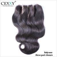 "Top Lace Closure 3 Part Closure Virgin Brazilian Body wave Hair Closure Size 4""*4"" Sew Around The Perimeter Shipping Free"