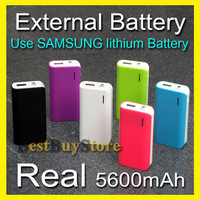Newest Real 5600mah External Battery pack charger for iphone 4S 5 5S / SAMSUNG Galaxy S5 S4 S3, Fit all Mobile Phone