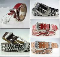 High quality brand cowskin cowhide belt new design fashion luxury rhinestone crystal genuine leather belts for women lady