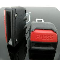 Free Shipping 2PCS Car Safety Seat Belt Lock Buckle High quality black