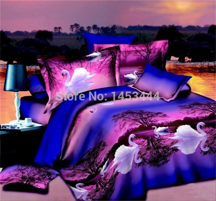 Wholesale 3d Bedding Sets King Size PolyesterCotton Horse Oil