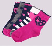 5 pairs/lot free shipping Hot-selling 100% cotton children socks princess socks kids socks girls' socks (14-16cm)