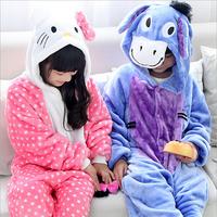 Children Kids Flannel Animal Pajamas Anime Cartoon Costumes Sleepwear Cosplay Onesie Kids Onesies