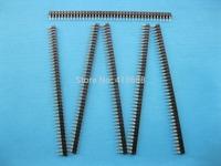40 pcs Gold Plated  L7.43mm 2.54mm 1x40 40pin Pin Header Male Single Row Strip