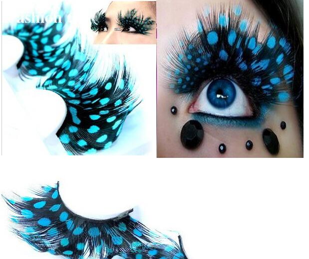 10pairs/lot,Y01,New Feather False Eyelashes Long Thick Lashes Party Eyelashes, Individual Lashes Makeup, 12 Style Free Select(China (Mainland))