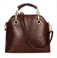 2014 new winter leather handbags European and American big retro bag influx of women shoulder bag Messenger bag
