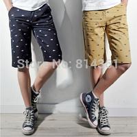 Free shipping summer beach cool brand cotton casual mens running shorts 2014 new fashion Korean men sport short pants big size