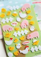 Free shipping ! Kwaii cute animals series decoration diary stickers,Kawaii sticker,stationery wholesale(tt-1329)