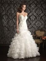 Custom Size Mermaid Wedding Dress White/Ivory Organza Sweetheart Beaded Zipper High Quality New Sexy Bridal Gown