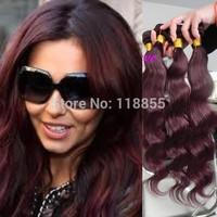 6A Peruvian virgin remy body wave hair weave 3bundles color 99J Peruvian loose wave hair burg deep wave curly hair free shipping