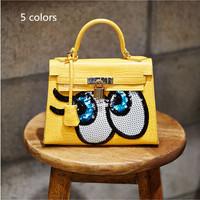 2014 Cute Big Eyes Small Bags Classic Designer Alligator Print Artificial Leather Shoulder Crossbody Bag Tote Handbag D0012