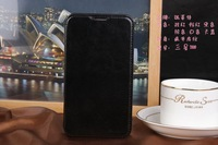 Retro Luxury Leather Case for Samsung Galaxy Note 2 II N7100 Stand Flip Phone Bags Elegant Black Brown
