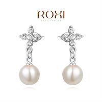 ROXI fashion luxruy pearl with crystal women earrings freeshipping