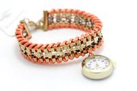 Luxury rhinestone wrap Bracelet quartz Wrist watch women dress watches relogio feminino fashions pink montre femme relojes